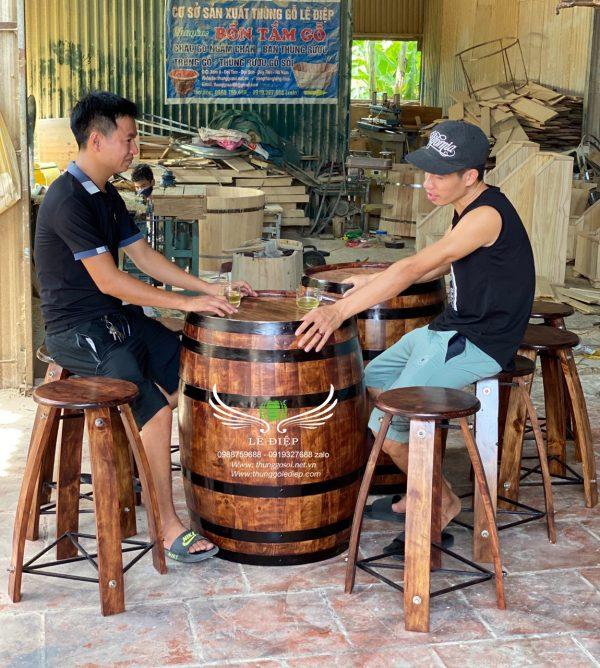 bán bàn thùng rượu