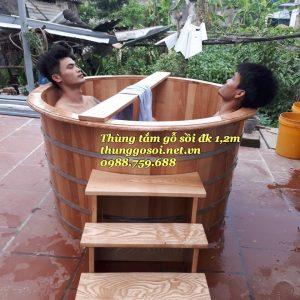 bán bồn tắm gỗ đôi