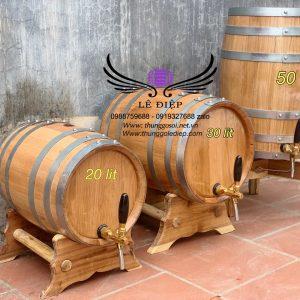bán thùng đựng rượu gỗ sồi