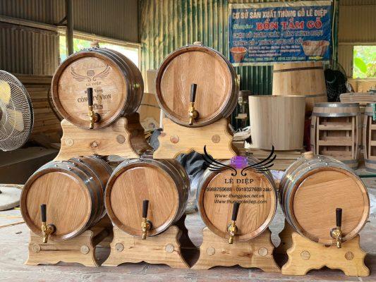 bán thùng rượu gỗ 20l