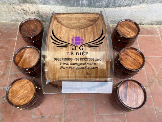 bán thùng rượu gỗ giá rẻ