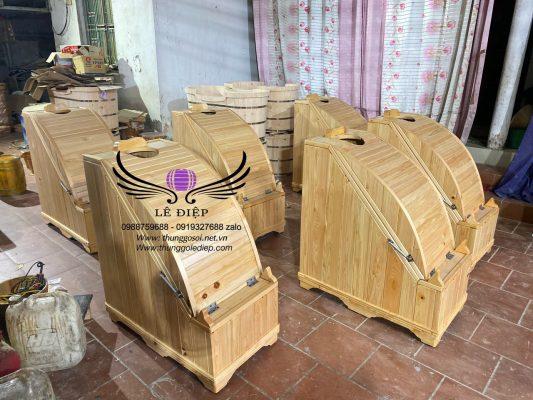 bán thùng xông hơi gỗ pơ mu