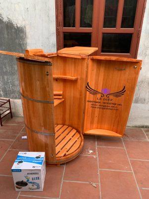 bán thùng xông hơi gỗ thông