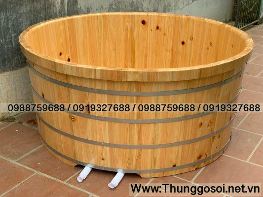 bồn tắm gia đình gỗ hinoki