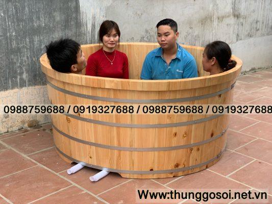 bồn tắm gỗ gia đình