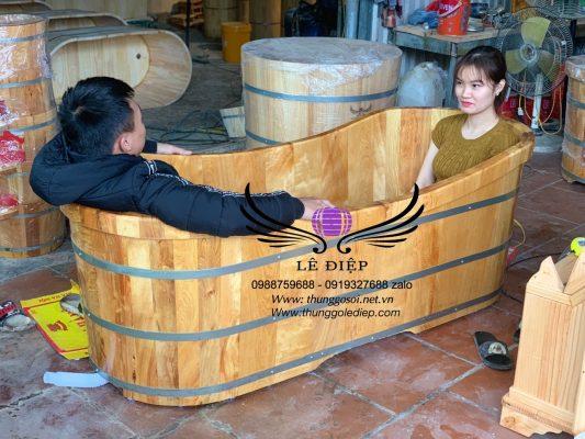 bồn tắm resort gỗ pơ mu