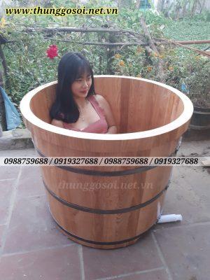 bồn tắm thuốc gỗ sồi