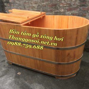 bồn tắm xông hơi gỗ thông