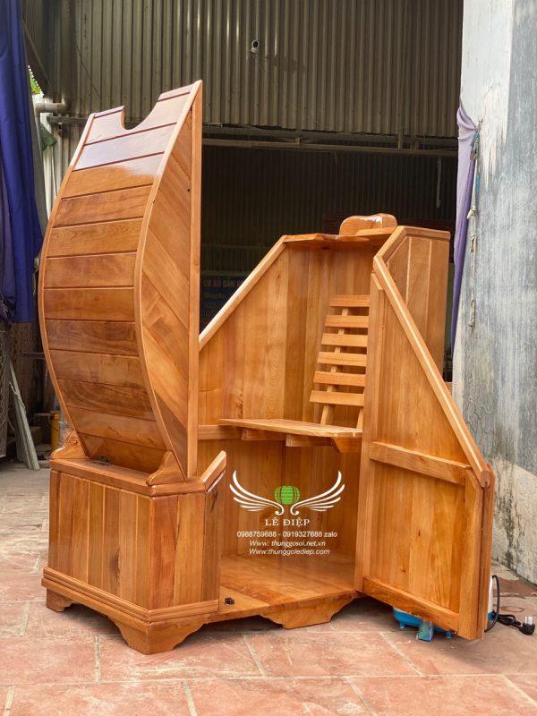cabin gỗ xông hơi
