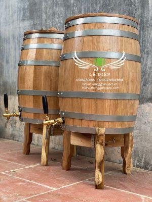 thùng đựng rượu gỗ
