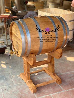 thùng đựng rượu gỗ sồi cao cấp