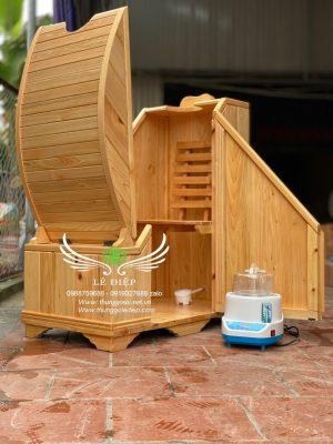 thùng gỗ xông