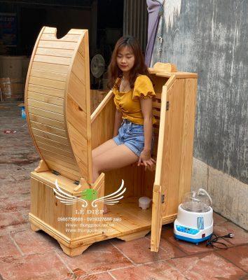 thùng gỗ xông hơi