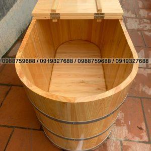 thùng gỗ xông hơi gấp đôi bản lề