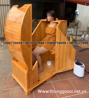 thùng gỗ xông hơi giá rẻ