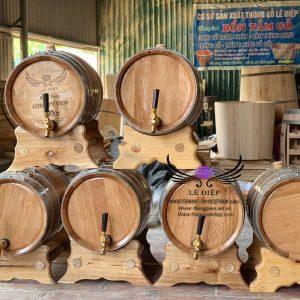 thùng ngâm rượu gỗ sồi 30l