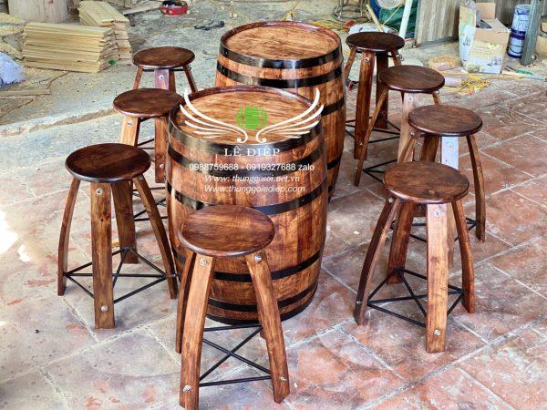 thùng rượu gỗ giá rẻ