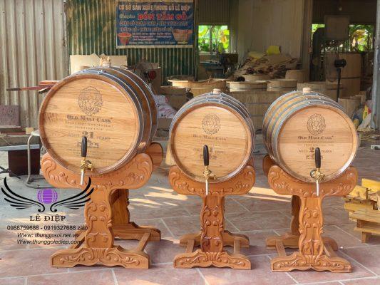 thùng ủ rượu gỗ sồi mỹ cao cấp