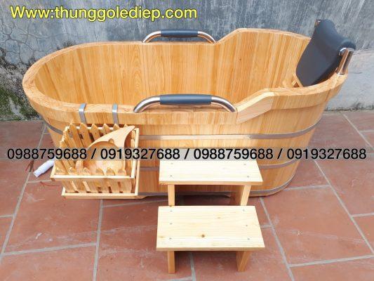 thùng tắm gỗ hinoki