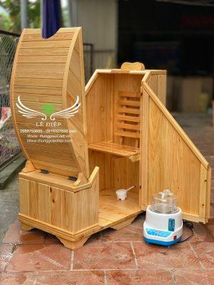 thùng xông hơi gỗ hinoki