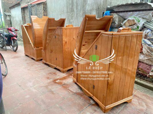 thùng xông hơi gỗ pơmu