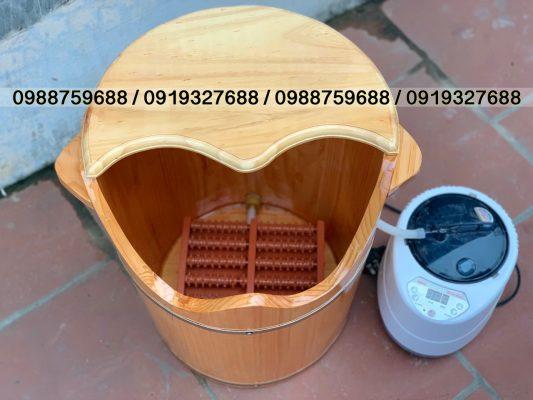 bồn gỗ xông chân