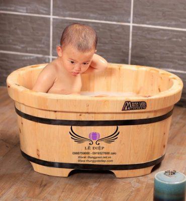 bồn tắm gỗ mini