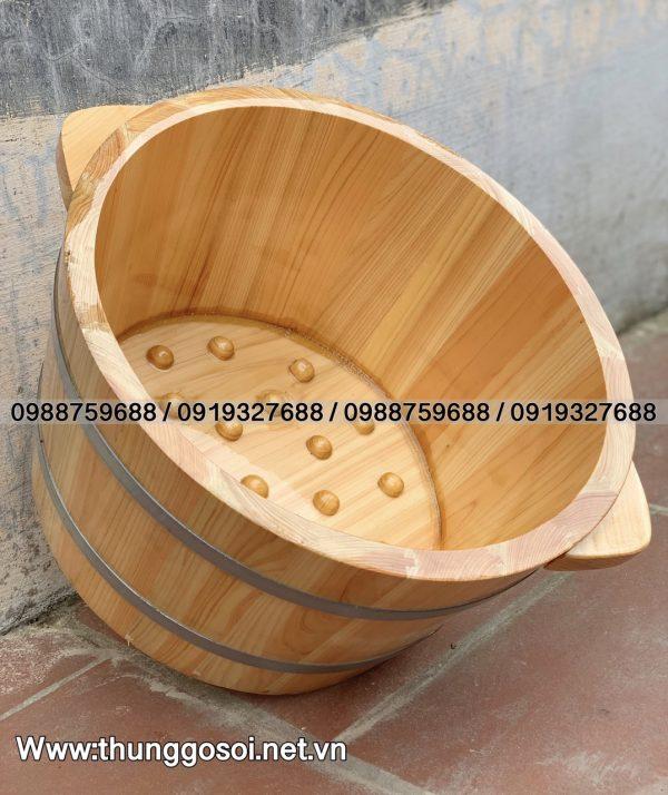 chậu gỗ ngâm chân cao cấp
