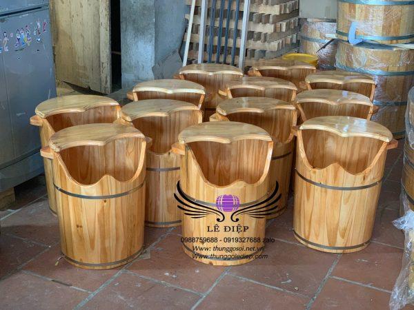 thùng gỗ xông chân giá rẻ