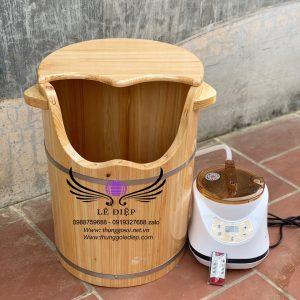 thùng xông chân gỗ thông