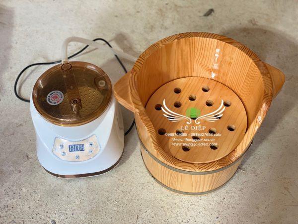 thùng xông đầu gỗ thông