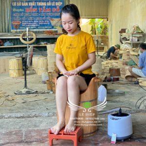 thùng xông phụ khoa gỗ thông