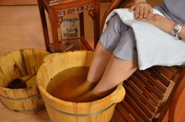 bán chậu gỗ ngâm chân thảo dược