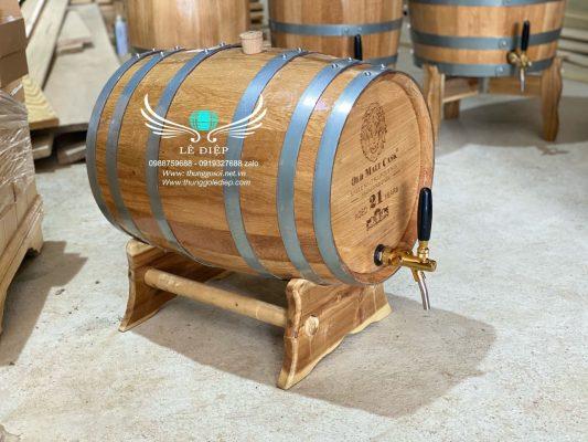 bán thùng gỗ sồi ngâm rượu
