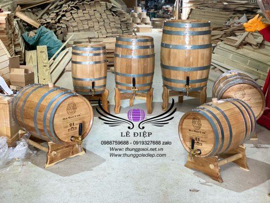 bán thùng gỗ sồi rượu