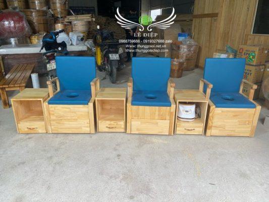 ghế ngồi xông vùng kín bằng gỗ